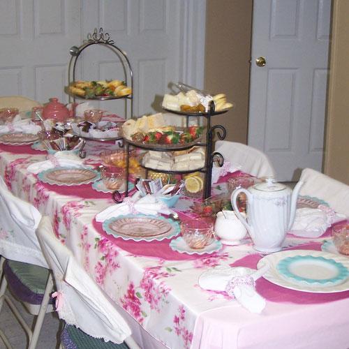 Party decorating table ideas photograph previous image tab for Unique tea party ideas