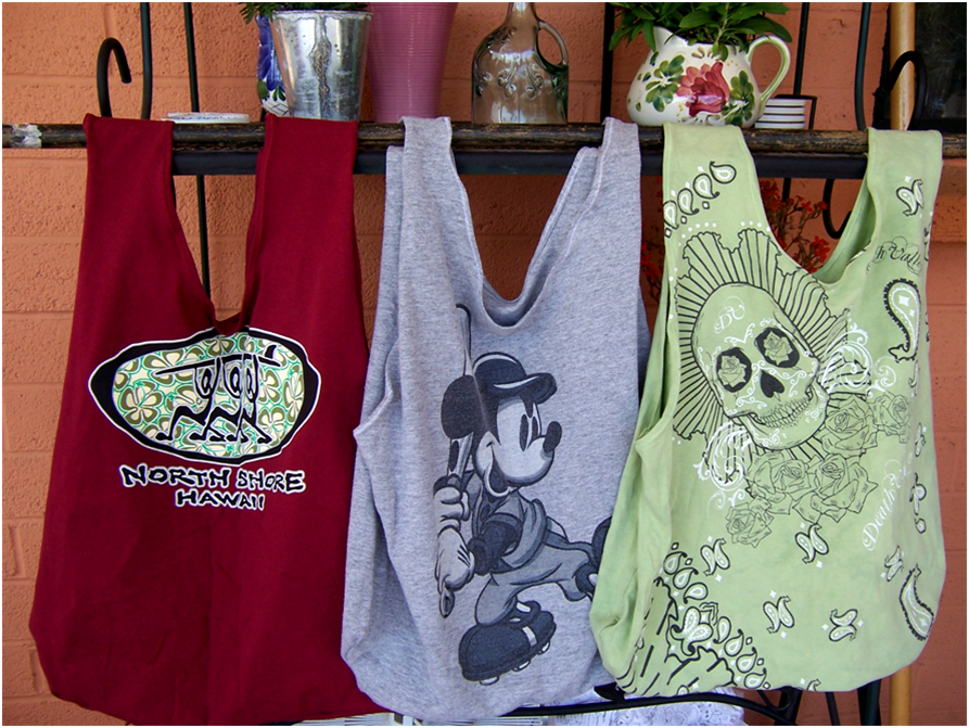 art threads wednesday sewing repurposed t shirt bags