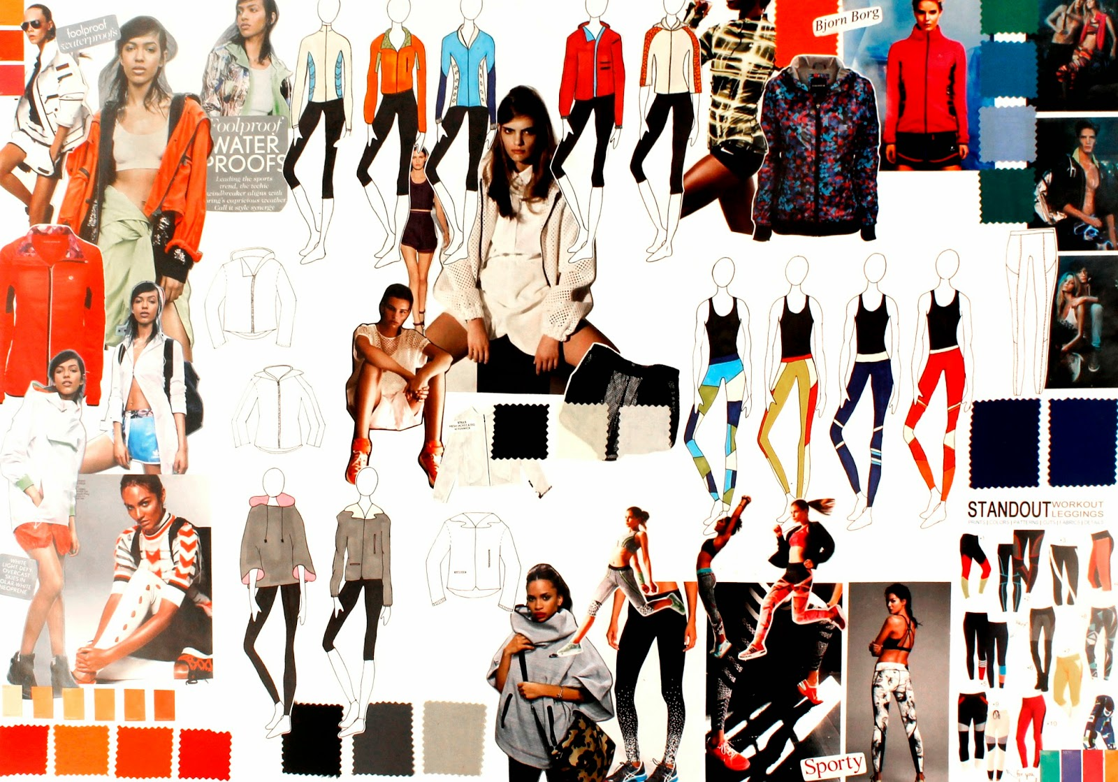 """Fashion and Sports: """"Running"""" mood board and design ideas"""
