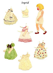 Homemade Antique and Retro Paper Dolls in Google+ Album..