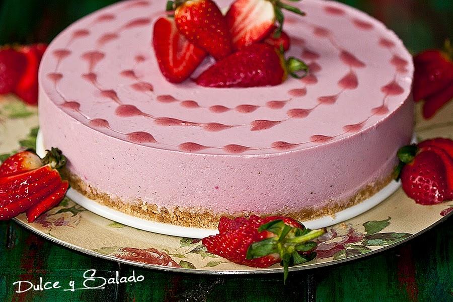 Dulce y salado tarta mousse de fresas - Mousse de fresa ...