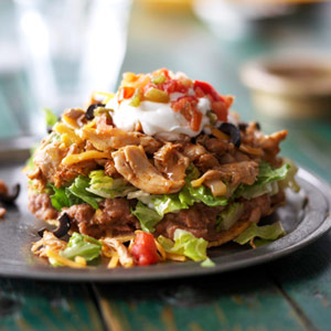 ... Recipes - Low Fat Chicken Tostadas   all about food and recipes