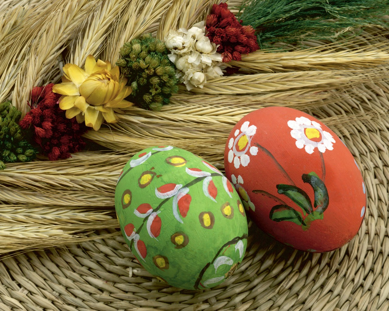 Using wax for easter eggs