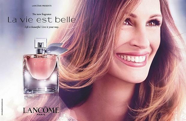 Julia Roberts w reklamie Lancome La Vie Est Belle