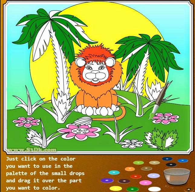Раскраски животные - Лев.