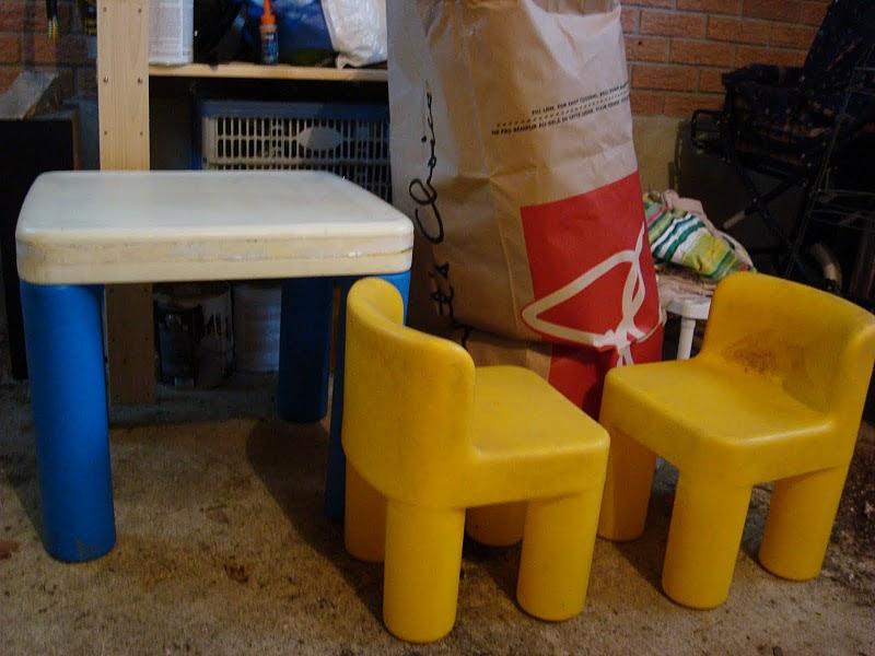 nonsense painted little tikes furniture. Black Bedroom Furniture Sets. Home Design Ideas