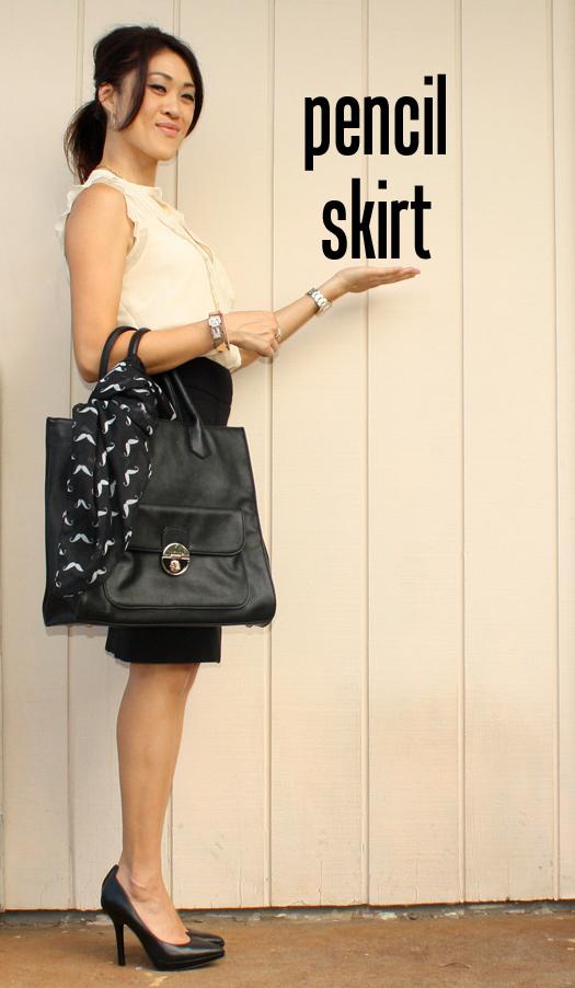 oomph a week of work wardrobe basics pencil skirt