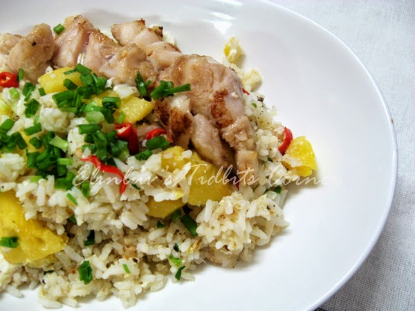 Elinluv 39 s tidbits corner fried rice with pineapple and for Pan seared fish recipes