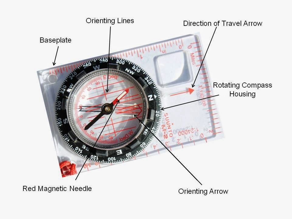 Magnetic Compass Sightingtaking A Bearing Outdoor Quest
