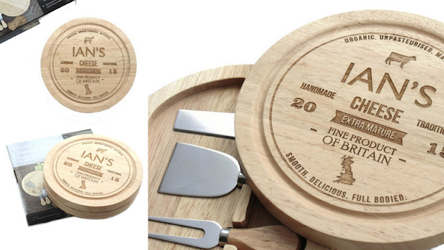 fathers day gift idea personalised cheese board