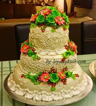 3tiers SteamButtercream Wedding Cake