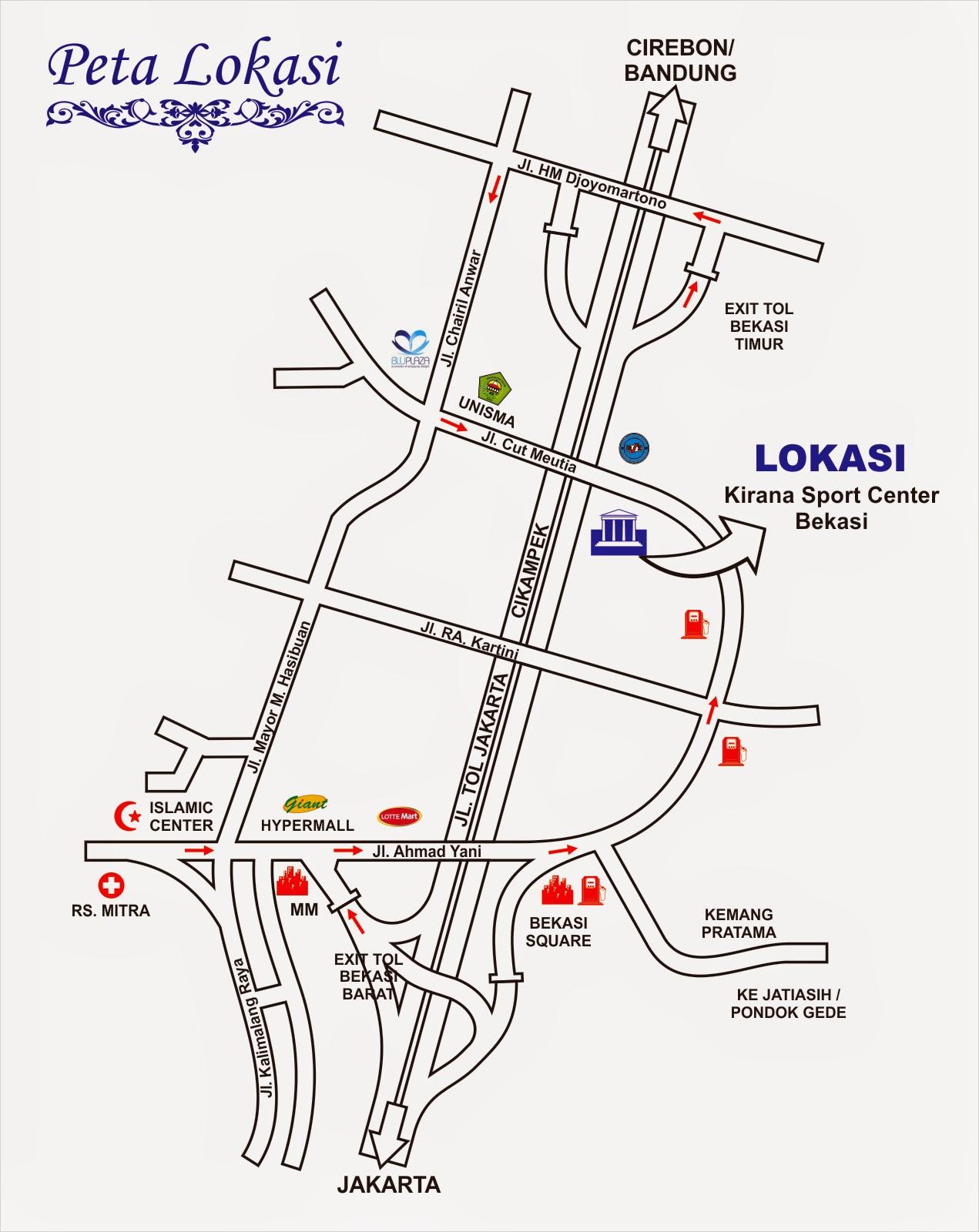 Denah Kirana Sport Center - Bekasi