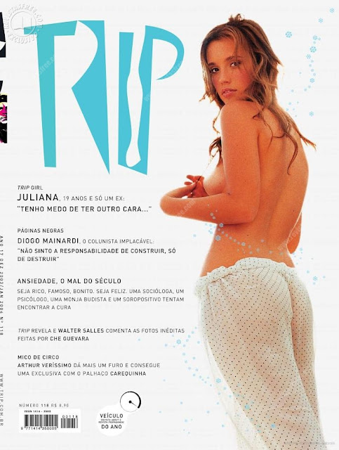 Confira as fotos da bela e sensual Juliana Didone, Capa da revista TRIP de dezembro de 2003!