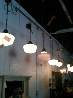 Silver Fox Architectural Salvage L A School House Light