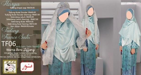 selendang pengantin fesyen tudung terkini