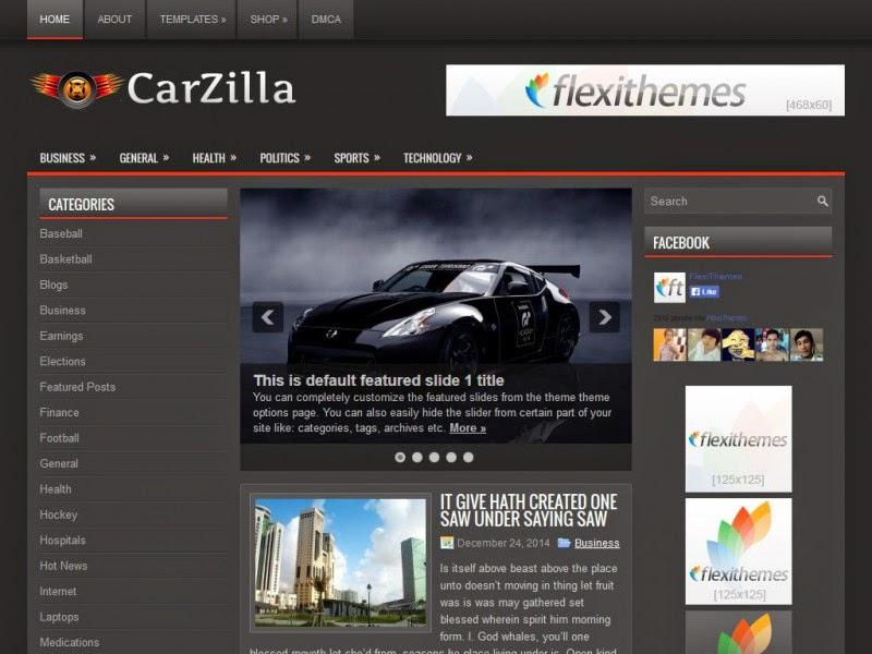 CarZilla - Free Wordpress Theme