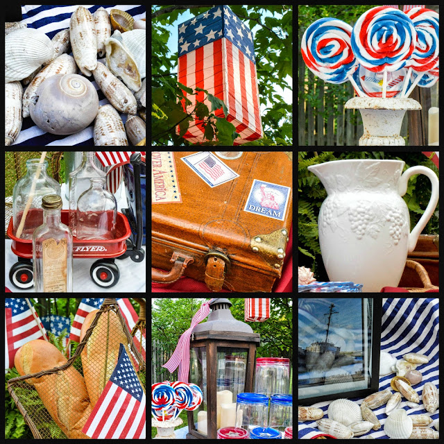 Fourth of July, Independence day, Patriotic Table, details