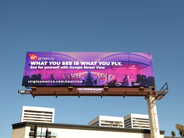 Virgin America What you see what you fly billboard