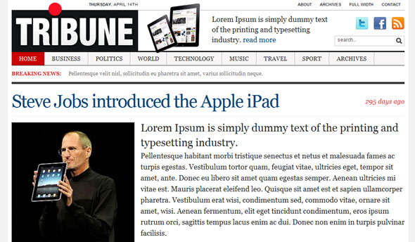 Tribune - Magazine WordPress Theme Free Download by Wpzoom.