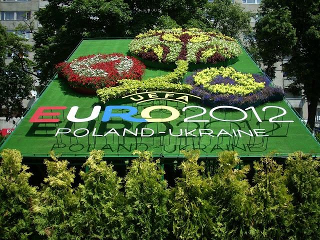 Floral Arrangement to Euro 2012 Soccer Championship, Lviv, Ukraine