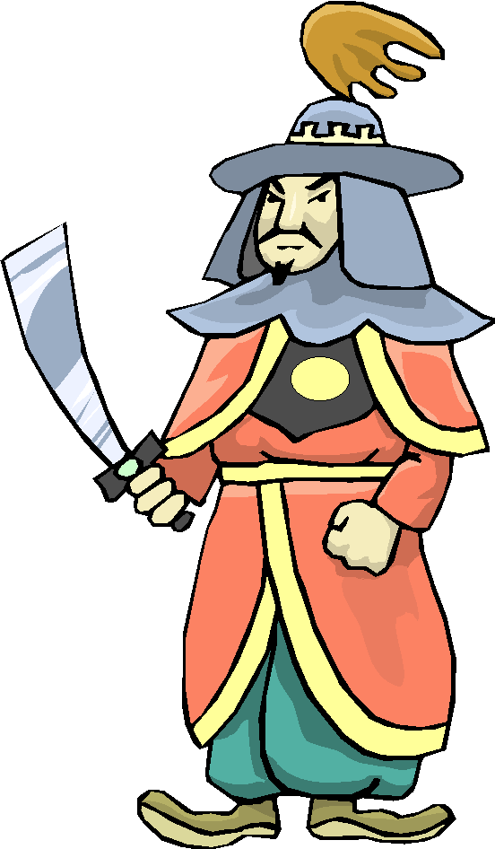 Chinese Warrior Free Clipart