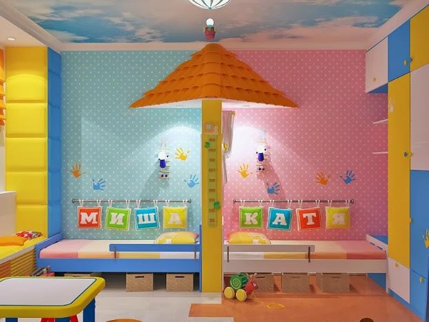 Dormitorio infantil mixto dormitorios compartidos para - Habitaciones infantiles unisex ...