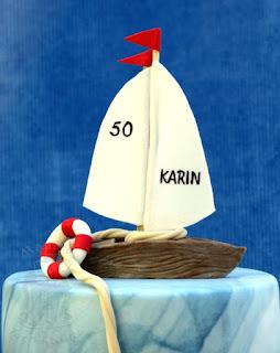 Segelboot Segler Torte Sail nautic
