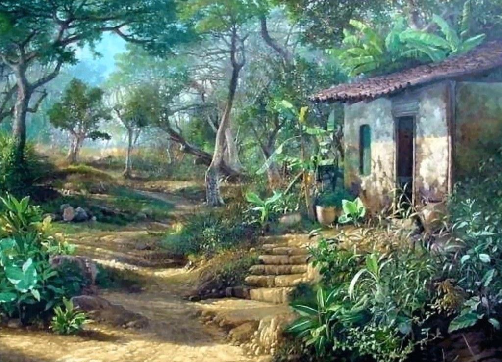 Cuadros modernos pinturas y dibujos paisajes en pinturas for Paisajismo barcelona