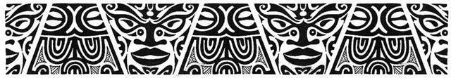 Armband Maori mask tattoo stencil