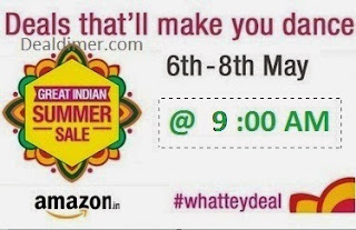 Amazon WhatTeyDeal Great Indian Summer Sale - 8AM to 10AM Deals