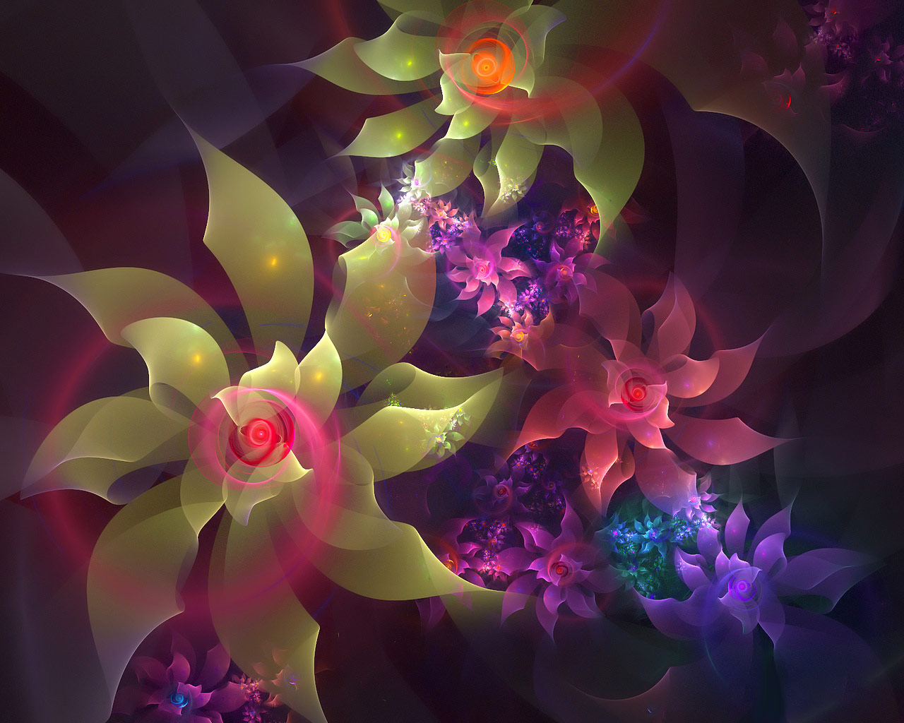 top fractal wallpapers floral - photo #30
