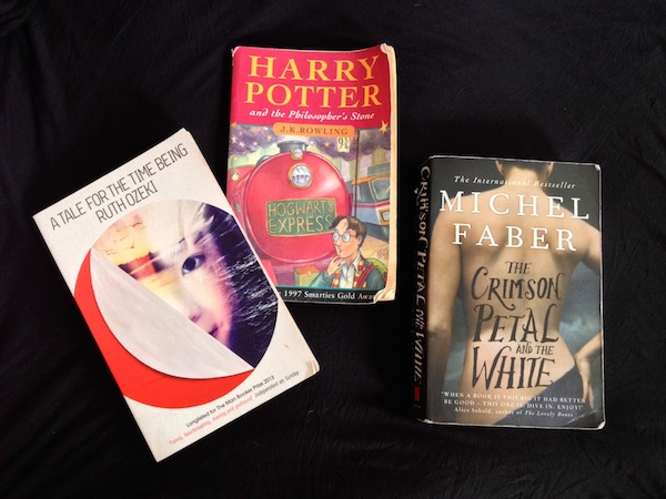 A Tale For the Time Being, Harry Potter, The Crimson Petal and the White