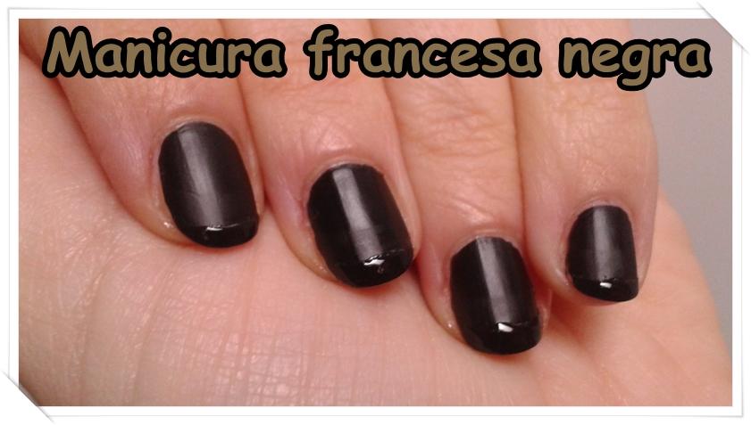 las cosas de maku manicura francesa negra