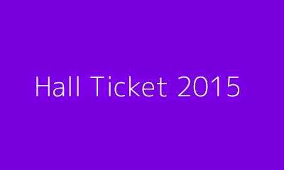 Madras university Hall ticket 2015