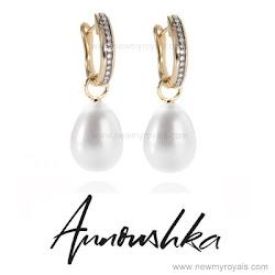 Kate Middleton Style ANNOUSHKA Earrings and STUART WEITZMAN Wedge