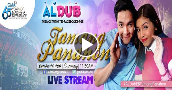 Watch AlDub's 'Tamang Panahon' Live Streaming Free Online