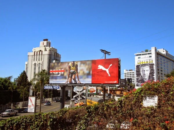 Puma Usain Bolt billboard Sunset Strip