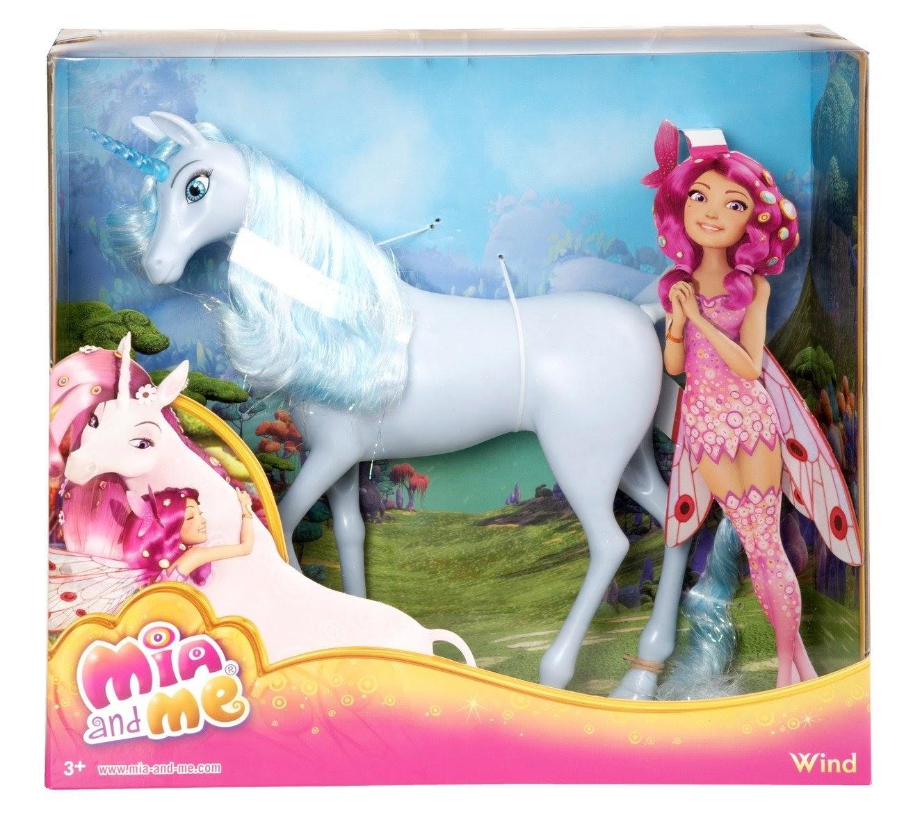 TOYS - Muñeco Unicornio Wind - Viento : Mia and Me  Juguete oficial | Mattel | A partir de 3 años   (Muñeca Mia no incluida)
