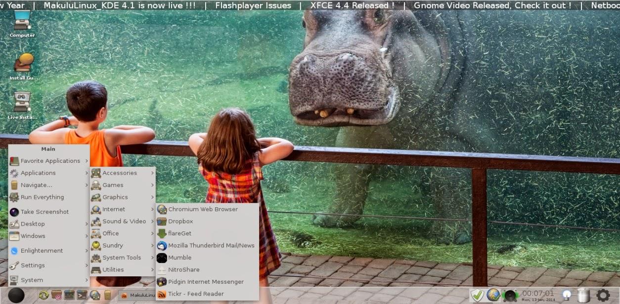 makulu E17 desktop