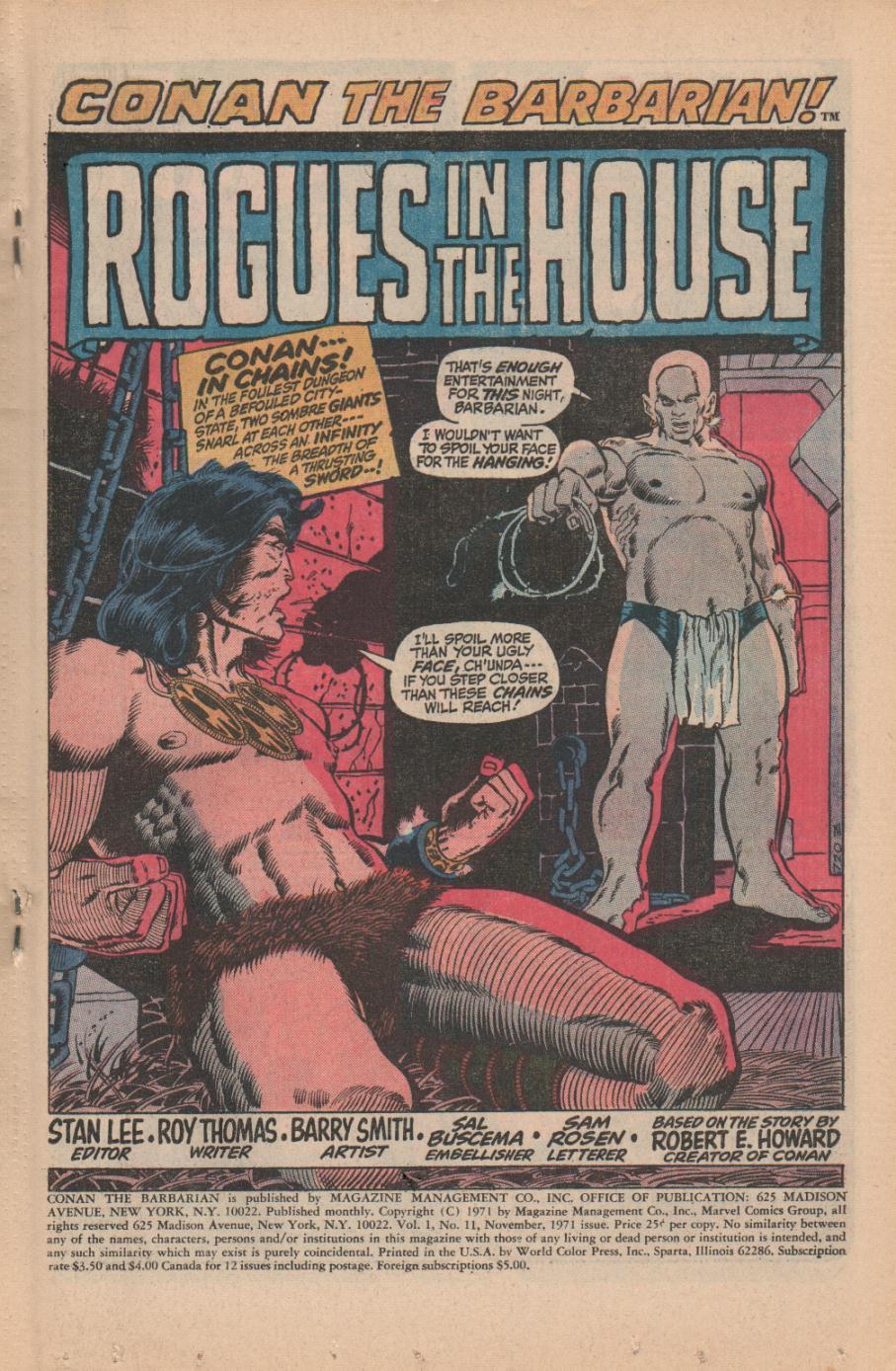 Conan the Barbarian (1970) Issue #11 #23 - English 3