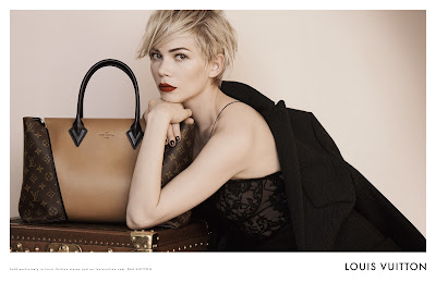 Louis Vuitton's Latest Ad Campaign Featuring Michelle Williams and the New W Bag!