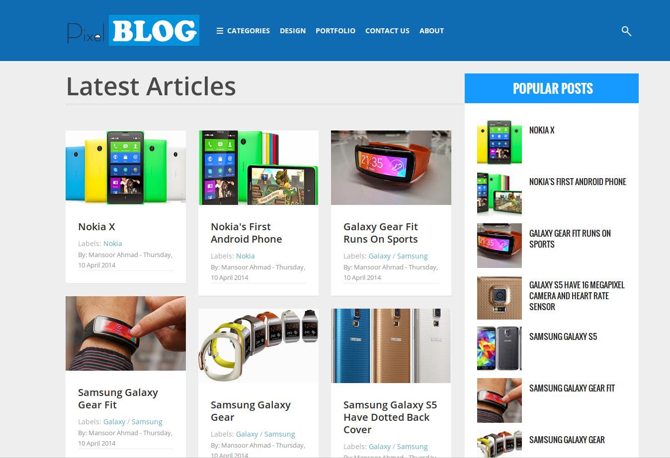 Pixel Blog Responsive Blogger Template