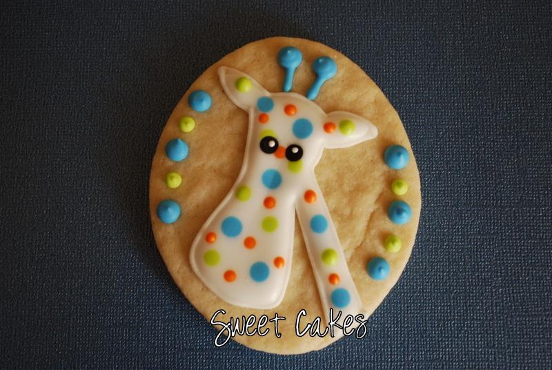 sweet cakes giraffe cookies baby shower