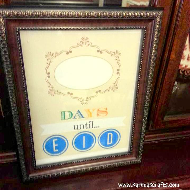 eid countdown poster wipeable muslim ramadan Crafts Islamic
