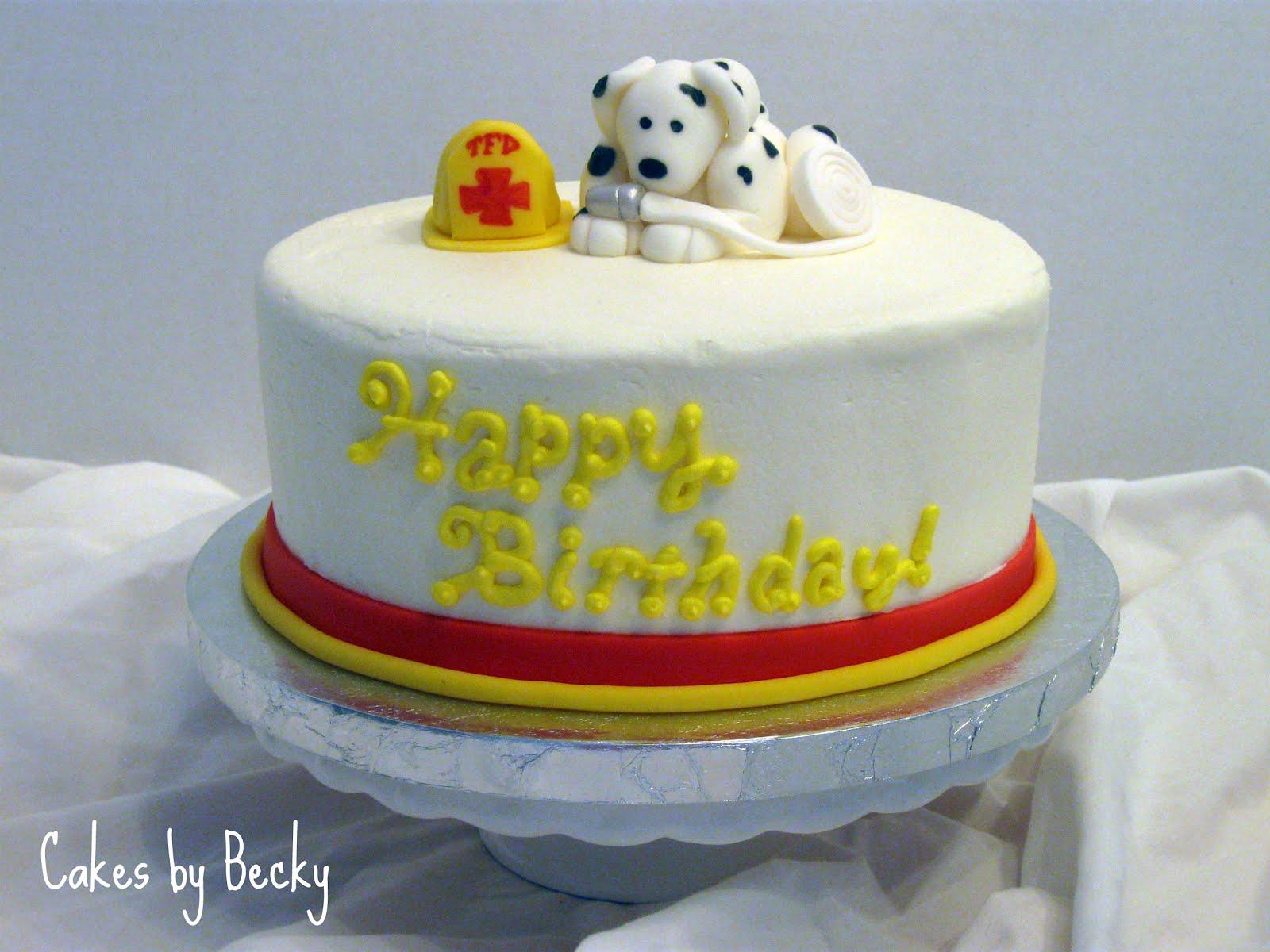 Cakes By Becky Fireman Birthday Cake