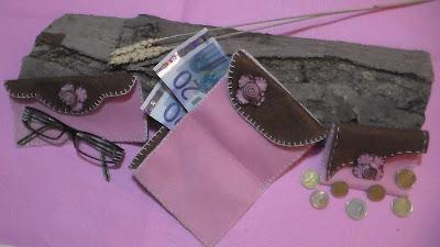 felted purses - bolsos de fieltro - portaocchiali in feltro - gafas de sol de fieltro - Felt sunglasses - Felt Sonnenbrille