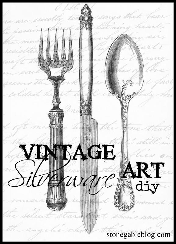 sc 1 st  StoneGable & VINTAGE SILVERWARE WALL ART DIY - StoneGable