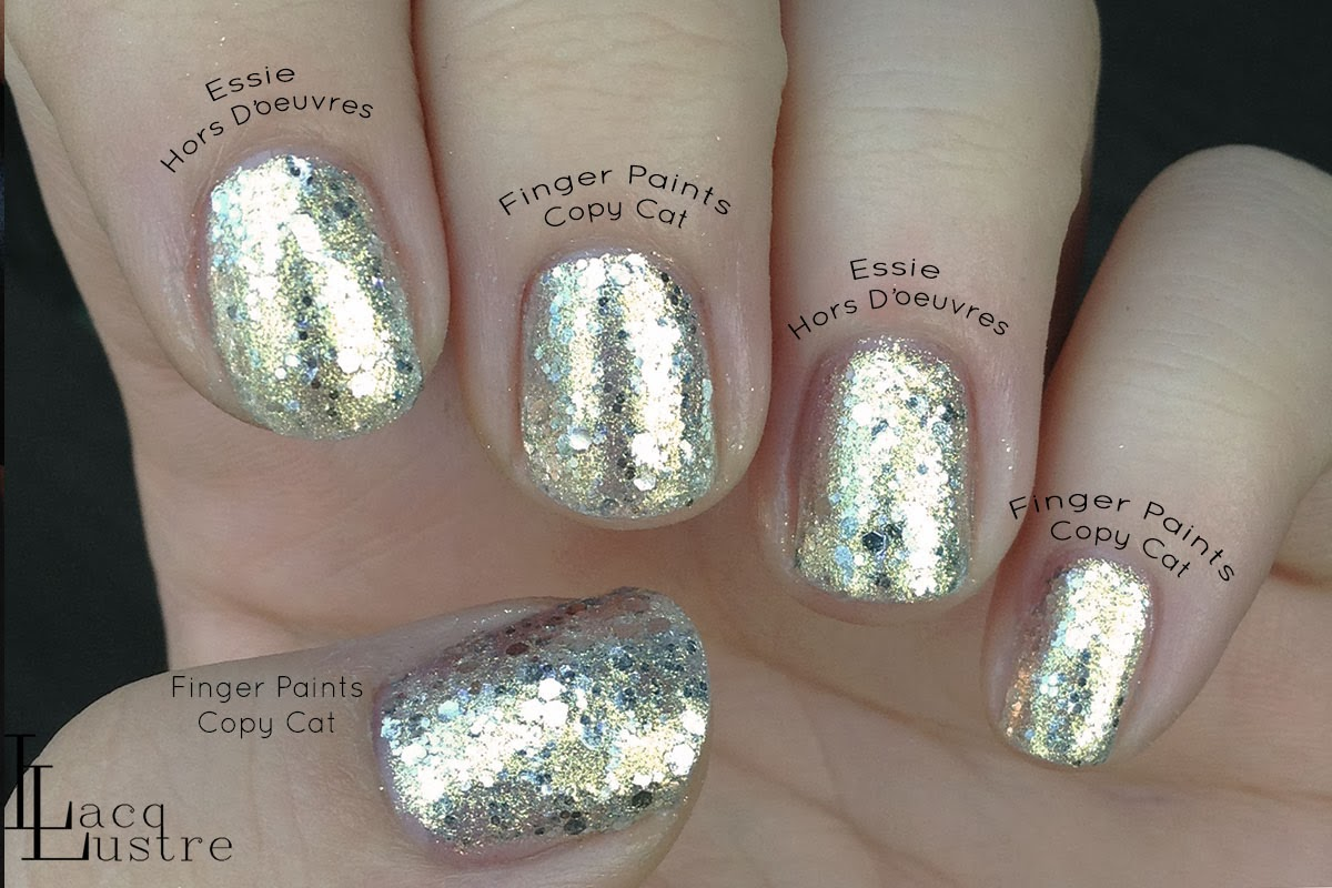 Finger Paints Copy Cat vs Essie Hors D'oeuvres comparison