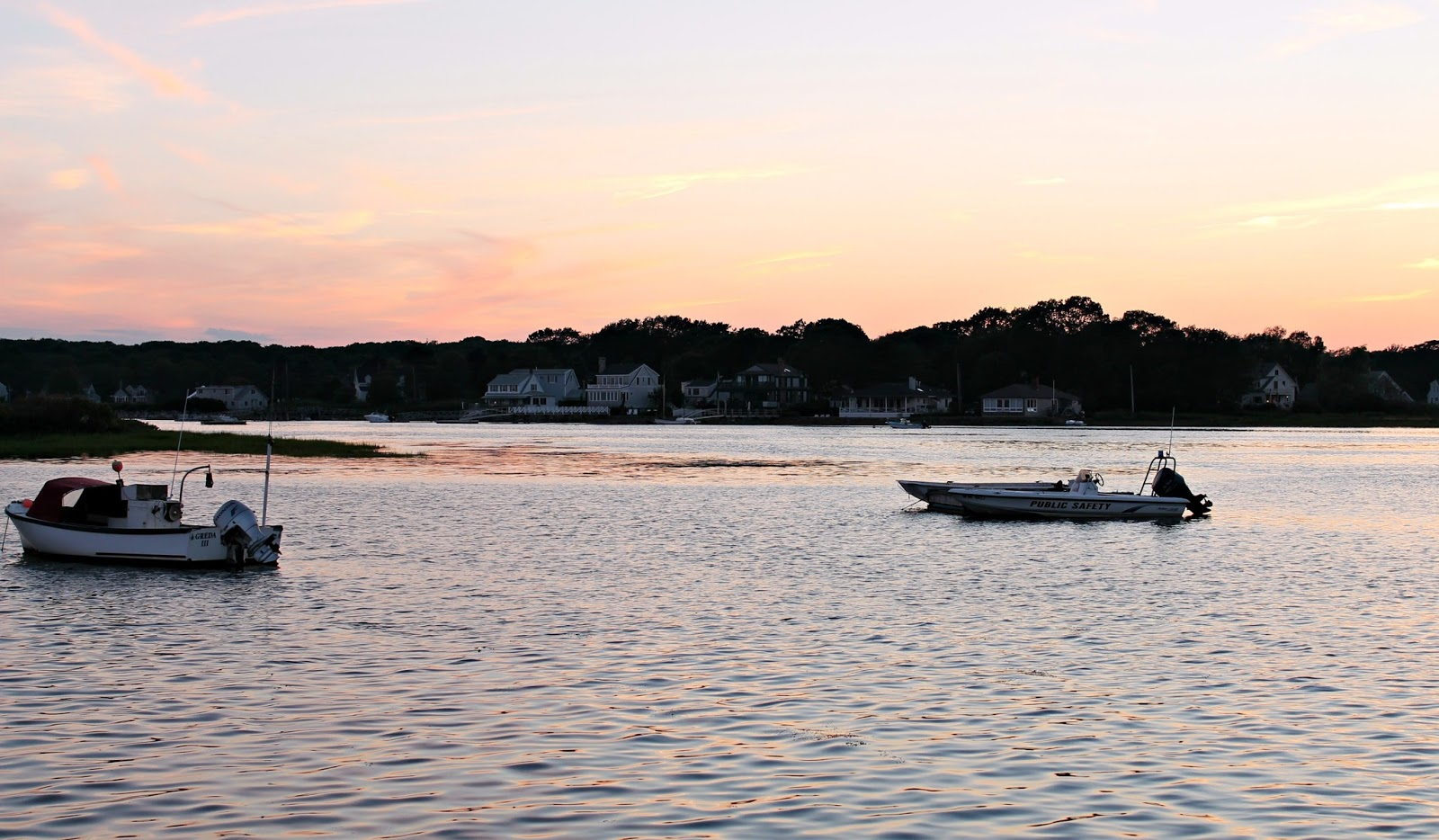Fishermen heading out at dusk, Cape Porpoise