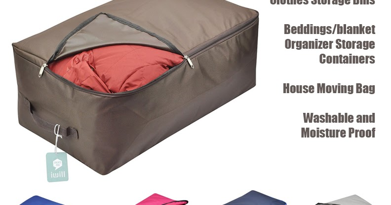Over-size Clothes Storage Bins Beddings/blanket Organizer Storage Containers House Moving Bag Washable and Moisture Proof | Home Living  sc 1 st  Home Living & Over-size Clothes Storage Bins Beddings/blanket Organizer Storage ...